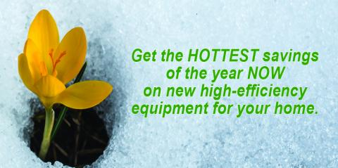 Save money on new heating equipment for your home