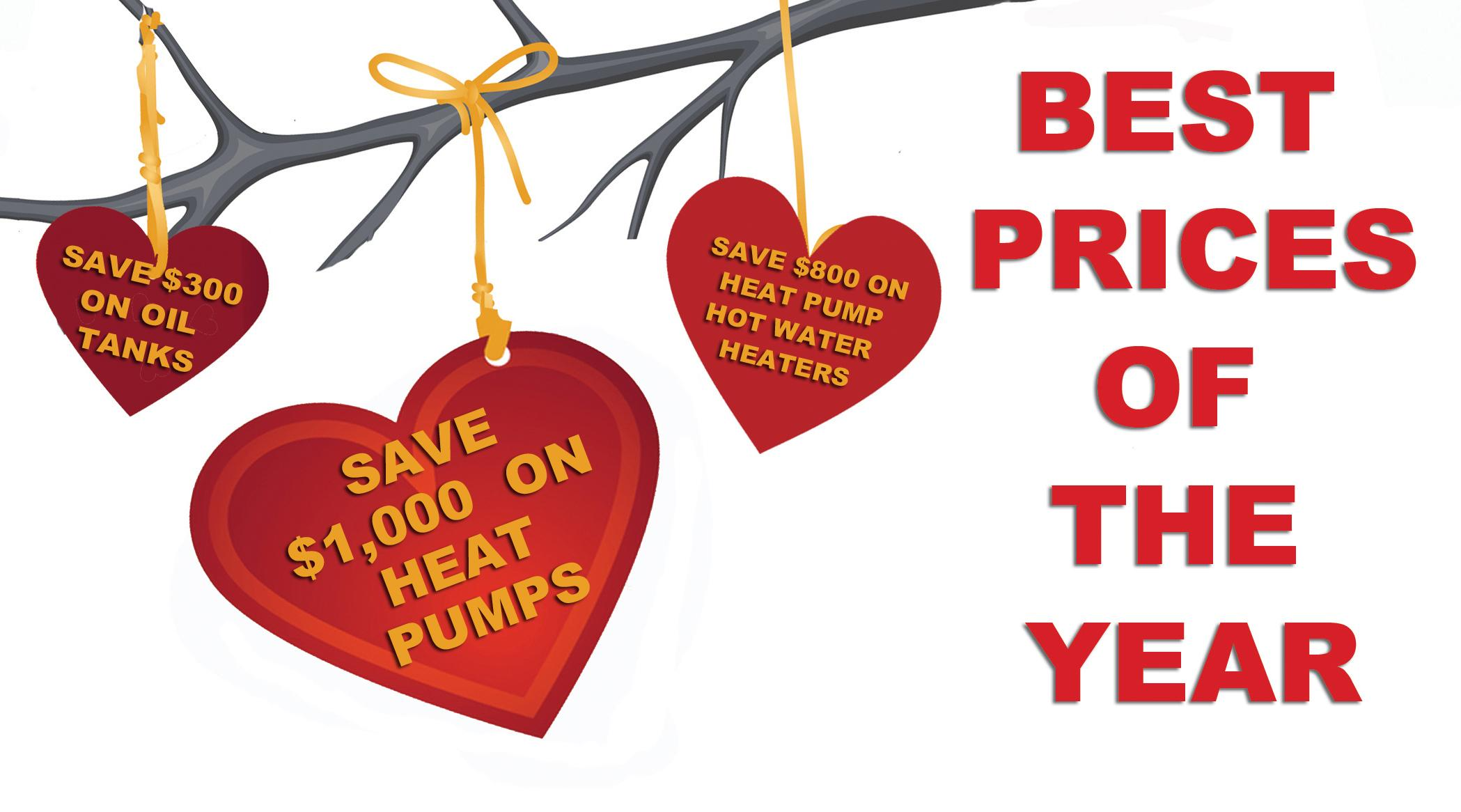 Best Prices of the Year on Heating Equipment