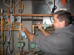 Checking a boiler zone valve