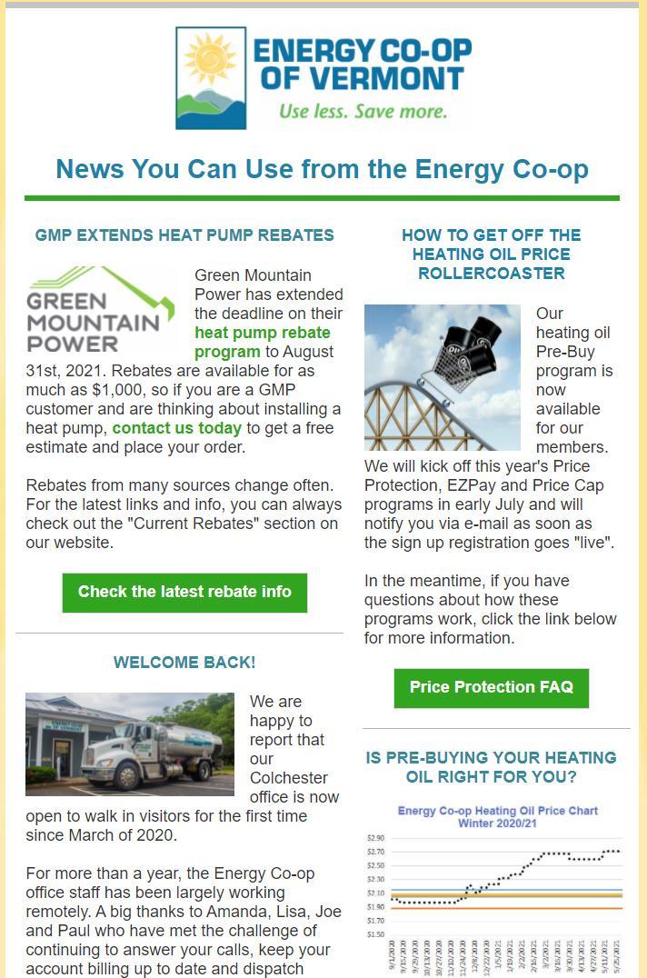 Energy Co-op Newsletter June 2021