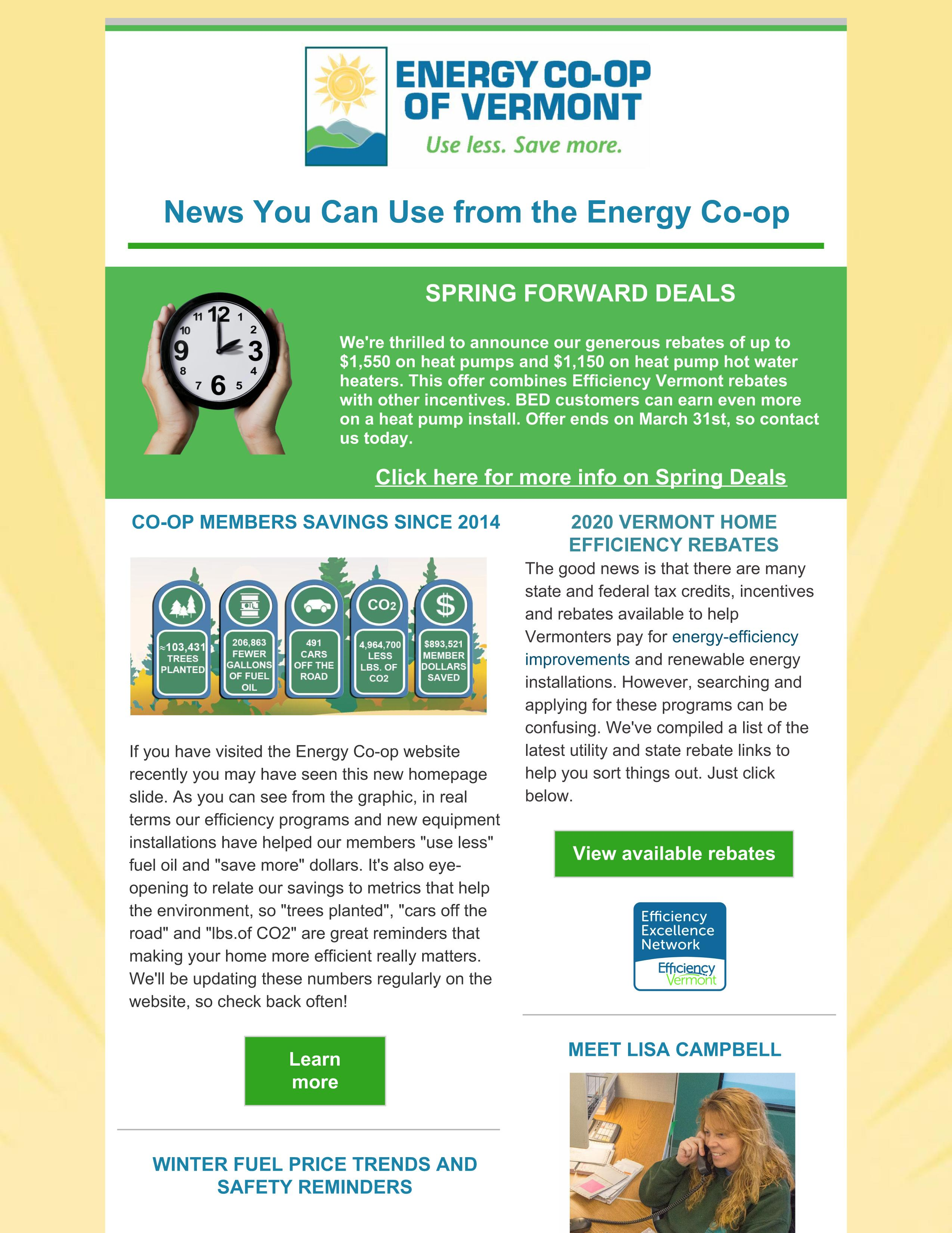 Energy Co-op of Vermont February 2020 Newsletter