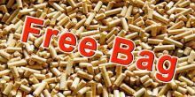 Free bag of wood pellets