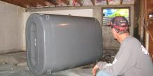 Replacing a basement oil tank