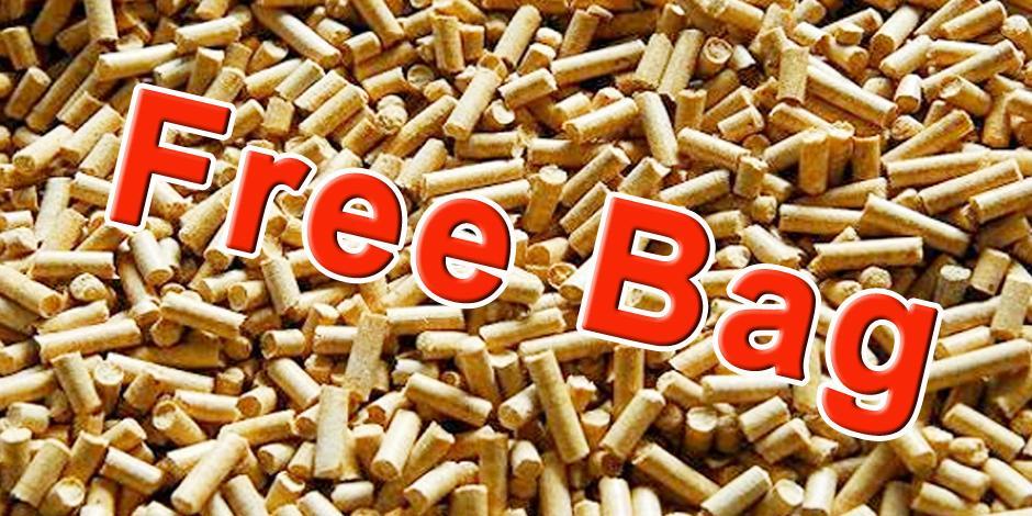 Free bag of wood pellets