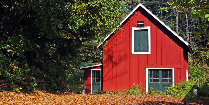 Red house in Vermont